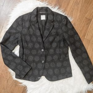 The Academy Blazer Gap Black & Gray Polka Dot